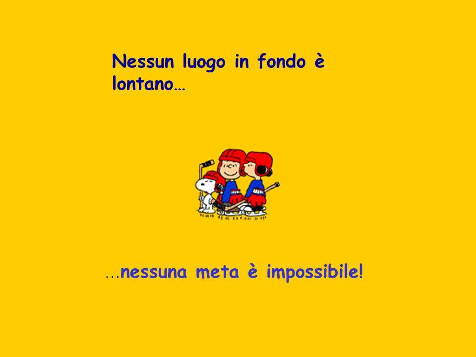 Nessun luogo in fondo è lontano… … nessuna meta è impossibile!