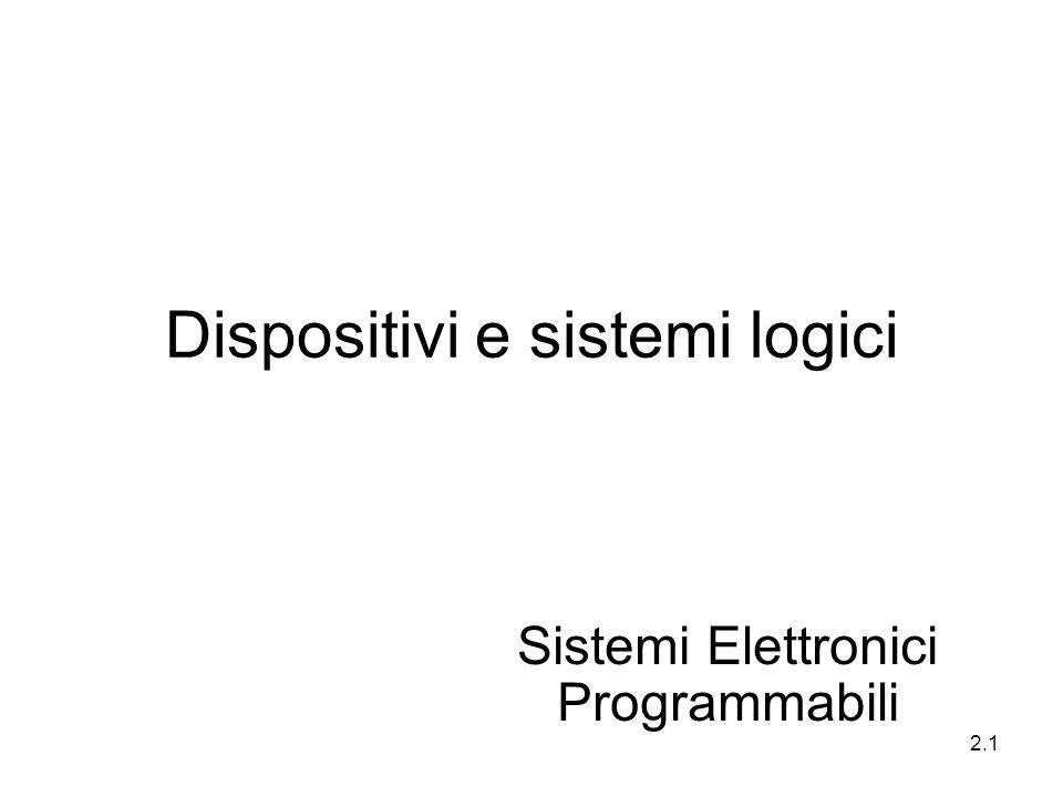 2.1 Dispositivi e sistemi logici Sistemi Elettronici Programmabili
