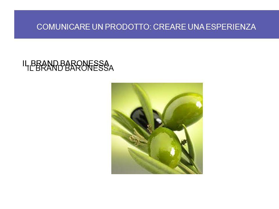 IL BRAND BARONESSA COMUNICARE UN PRODOTTO: CREARE UNA ESPERIENZA IL BRAND BARONESSA