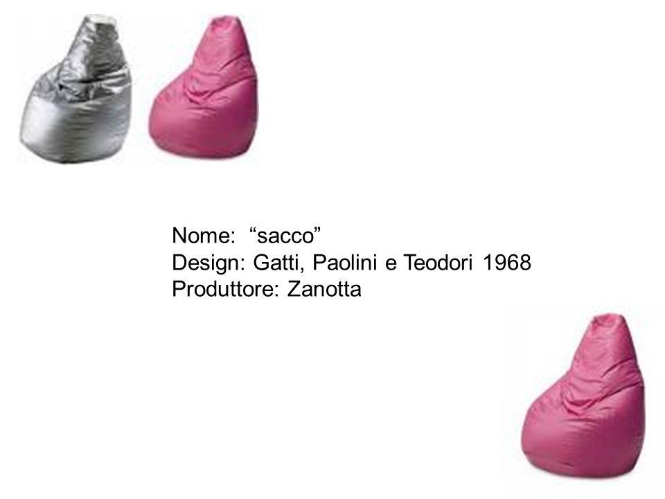 """Nome: """"sacco"""" Design: Gatti, Paolini e Teodori 1968 Produttore: Zanotta"""