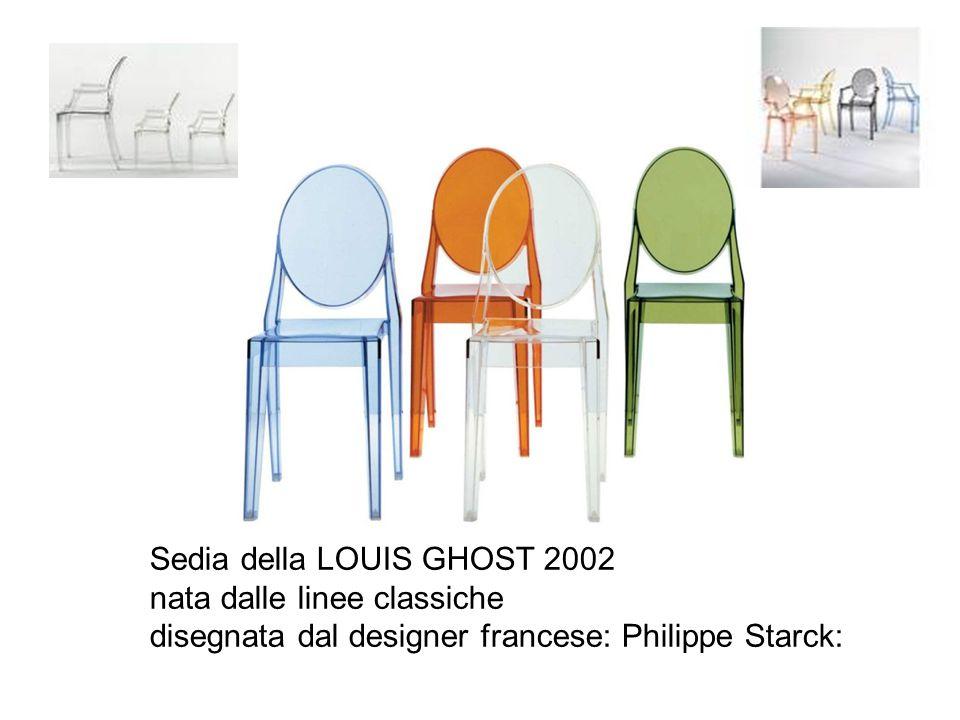 Sedia della LOUIS GHOST 2002 nata dalle linee classiche disegnata dal designer francese: Philippe Starck: