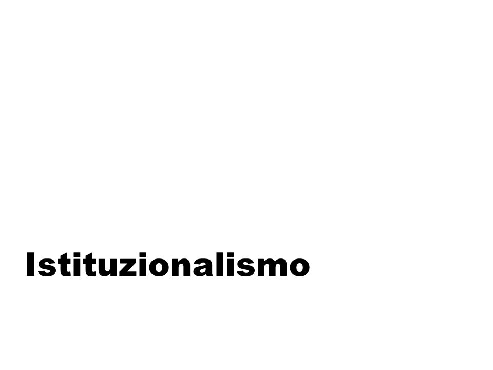 Istituzionalismo