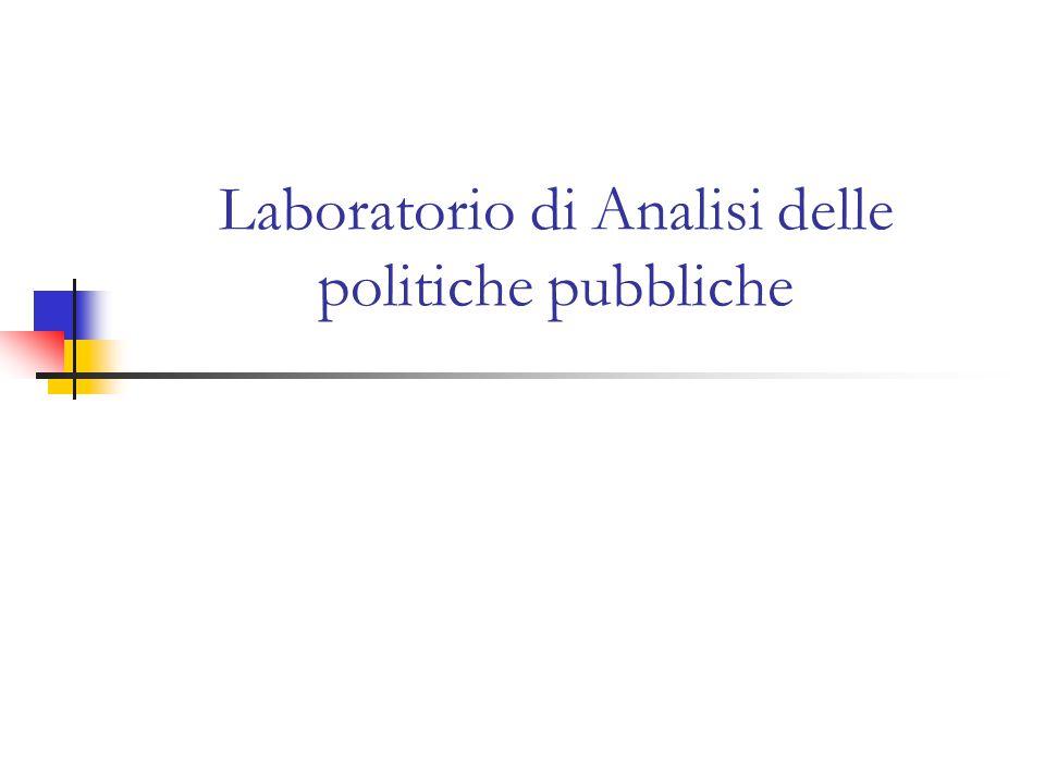Laboratorio di Analisi delle politiche pubbliche