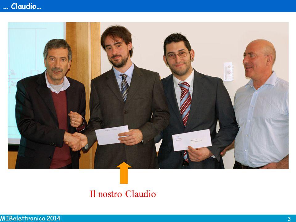 MIBelettronica 2014 4 …ha vinto il premio della commissione V per la sua tesi di dottorato