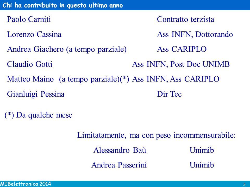 MIBelettronica 2014 6 Collaborazioni INFN Sezione di Ferrara (LHCb).