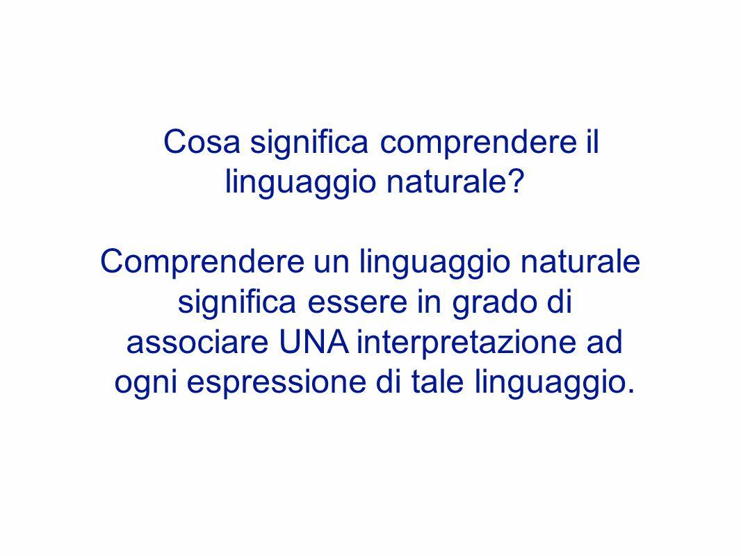 Cosa significa comprendere il linguaggio naturale.