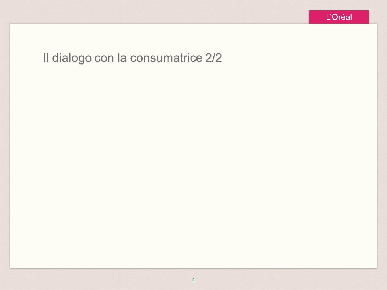 6 L'Oréal Il dialogo con la consumatrice 2/2