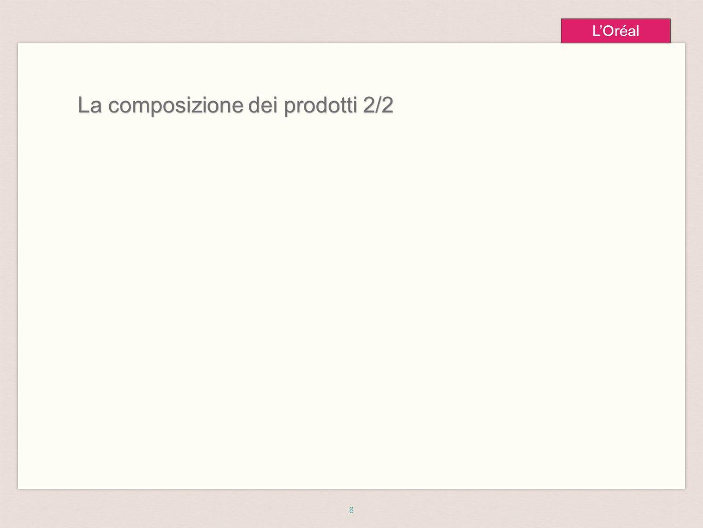 8 L'Oréal La composizione dei prodotti 2/2