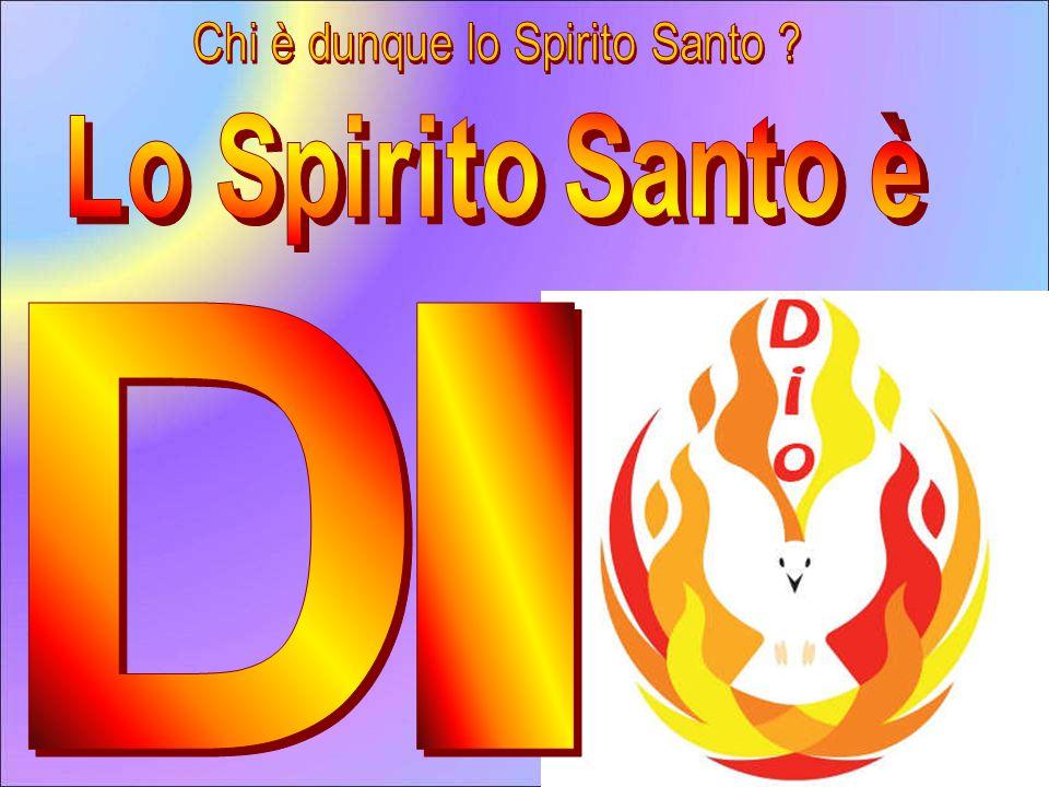 E' difficile descrivere lo Spirito Santo: è come l'aria che non si vede, non si può toccare, né possedere, ma c'è.