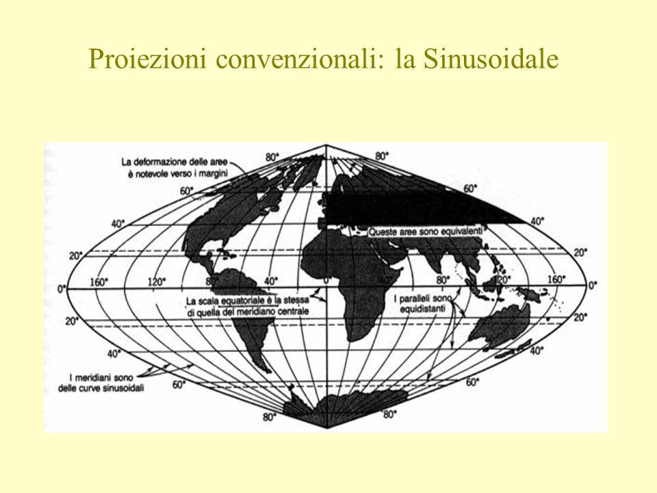 Proiezioni convenzionali: la Sinusoidale