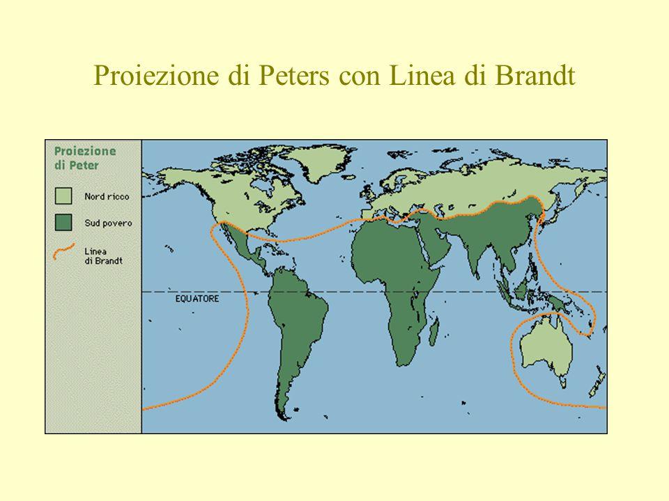 Proiezione di Peters con Linea di Brandt