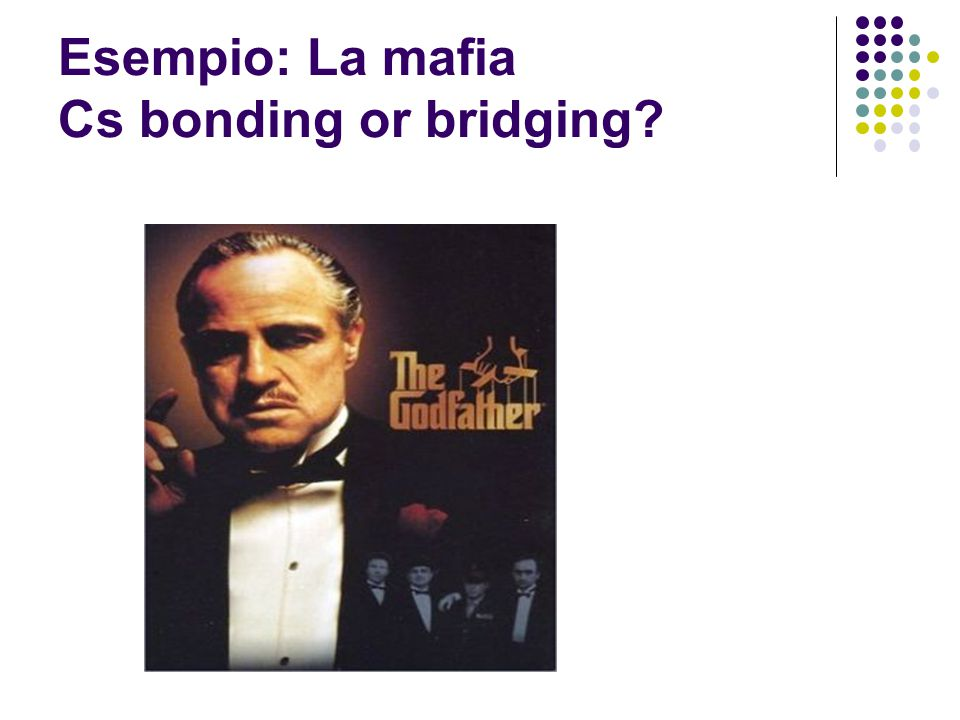 Esempio: La mafia Cs bonding or bridging