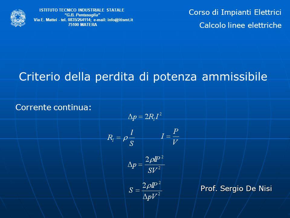 Prof.Sergio De Nisi ISTITUTO TECNICO INDUSTRIALE STATALE G.B.