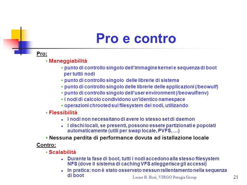 21 Leone B. Bosi, VIRGO Perugia Group Pro e contro Pro: Maneggiabilità punto di controllo singolo dell'immagine kernel e sequenza di boot per tuttii n