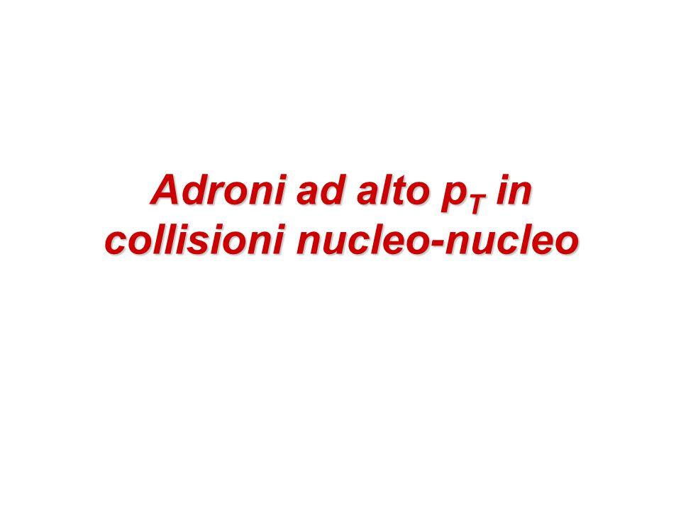 Adroni ad alto p T in collisioni nucleo-nucleo