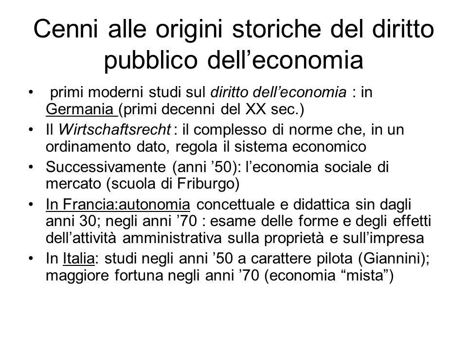 Come si colloca il diritto pubblico dell'economia.