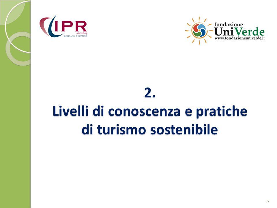 2. Livelli di conoscenza e pratiche di turismo sostenibile 6