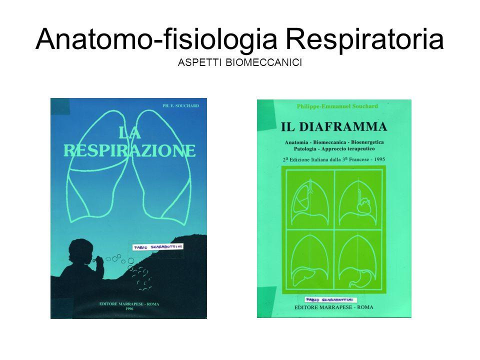 Anatomo-fisiologia Respiratoria ASPETTI BIOMECCANICI