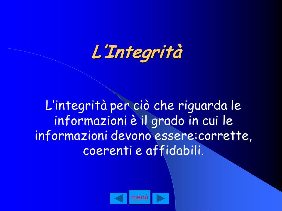La Riservatezza Consiste nel limitare l'accesso alle informazioni e alle risorse informatiche alle sole autorizzate.