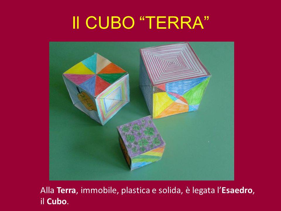 """Il CUBO """"TERRA"""" Alla Terra, immobile, plastica e solida, è legata l'Esaedro, il Cubo."""