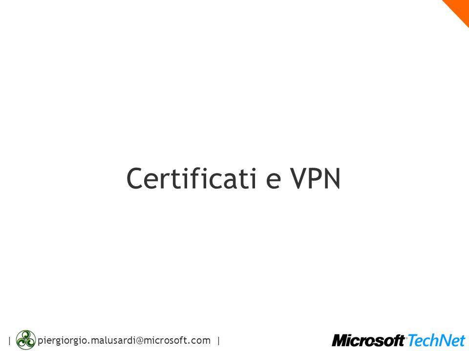 | piergiorgio.malusardi@microsoft.com | Agenda Virtual Private Networking: concetti di base Accesso di client VPN VPN Site-to-Site