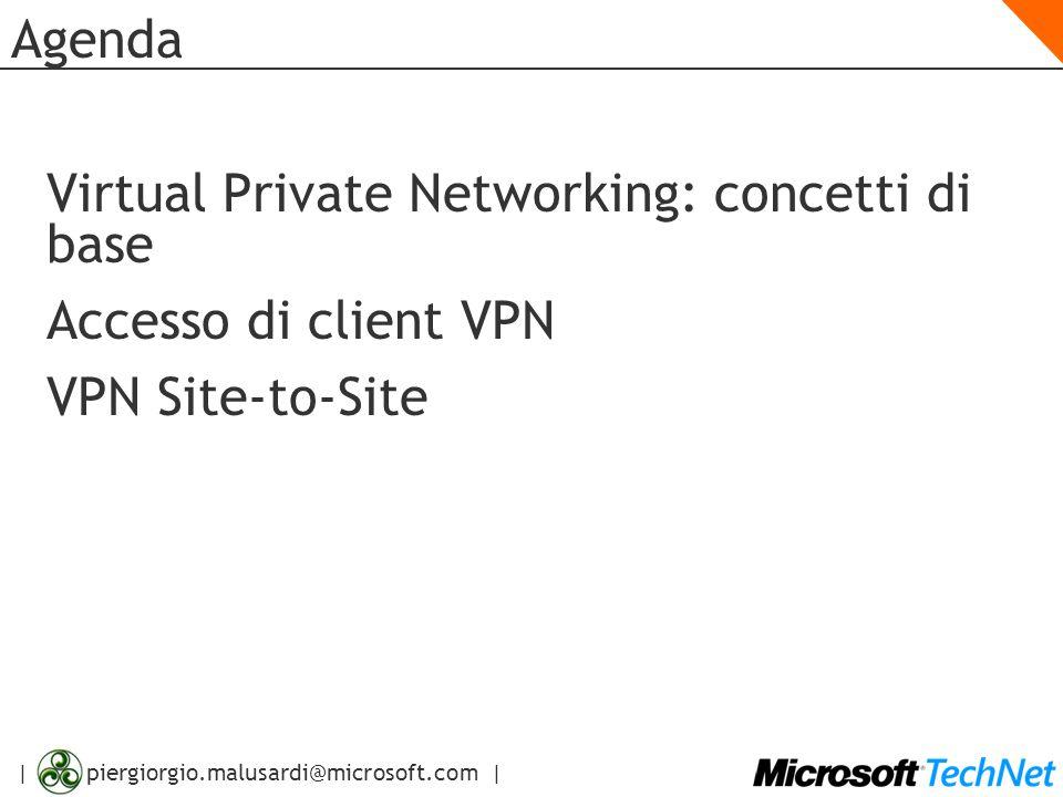 | piergiorgio.malusardi@microsoft.com | Accesso di Client VPN Configurazione degli Account Utente Configurare i permessi per l'accesso via dial-in e VPN Configurare i permessi per l'accesso via dial-in e VPN
