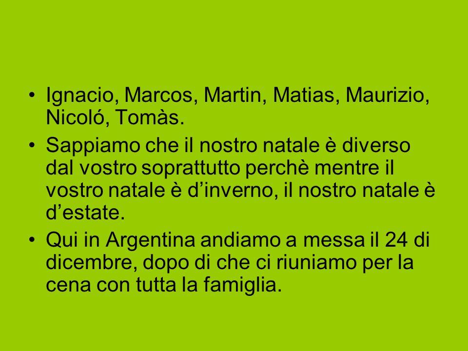 Ignacio, Marcos, Martin, Matias, Maurizio, Nicoló, Tomàs.