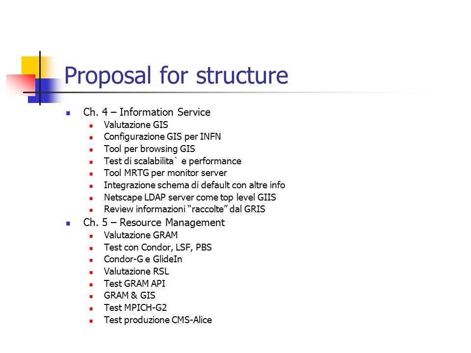 Proposal for structure Ch.