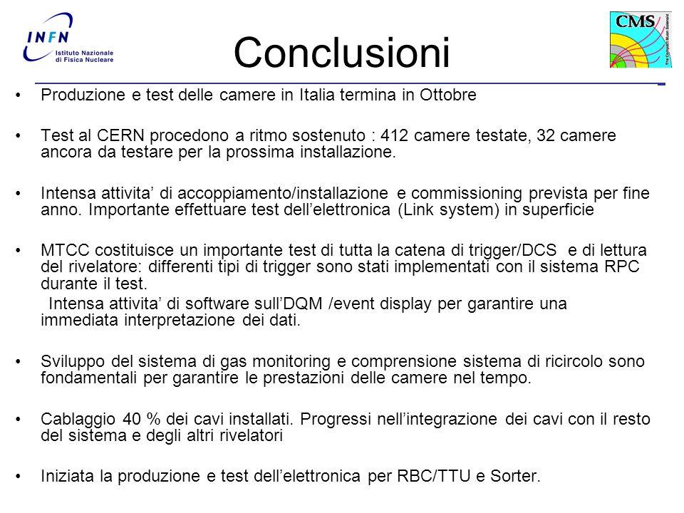 A. Colaleo31 Conclusioni Produzione e test delle camere in Italia termina in Ottobre Test al CERN procedono a ritmo sostenuto : 412 camere testate, 32