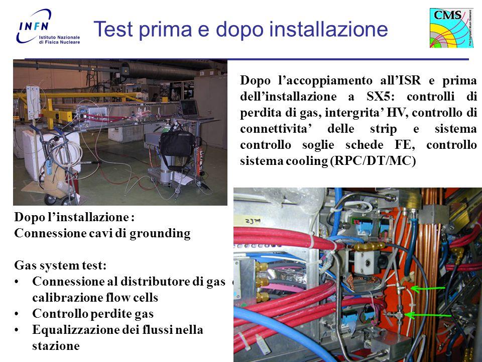A. Colaleo7 Coupling Dopo l'accoppiamento all'ISR e prima dell'installazione a SX5: controlli di perdita di gas, intergrita' HV, controllo di connetti