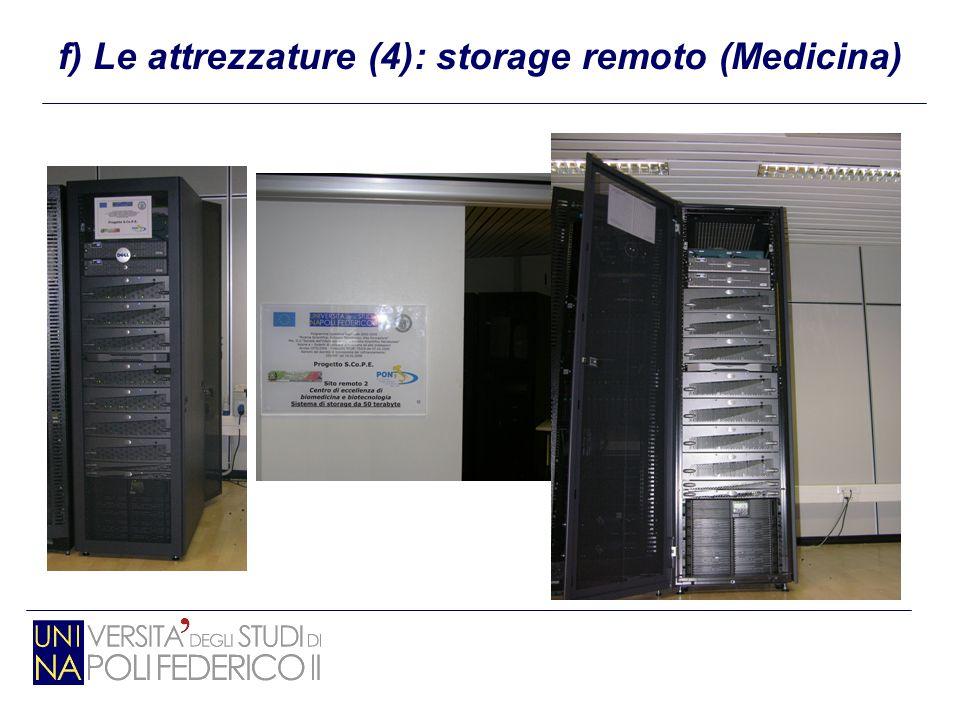 f) Le attrezzature (4): storage remoto (Medicina)