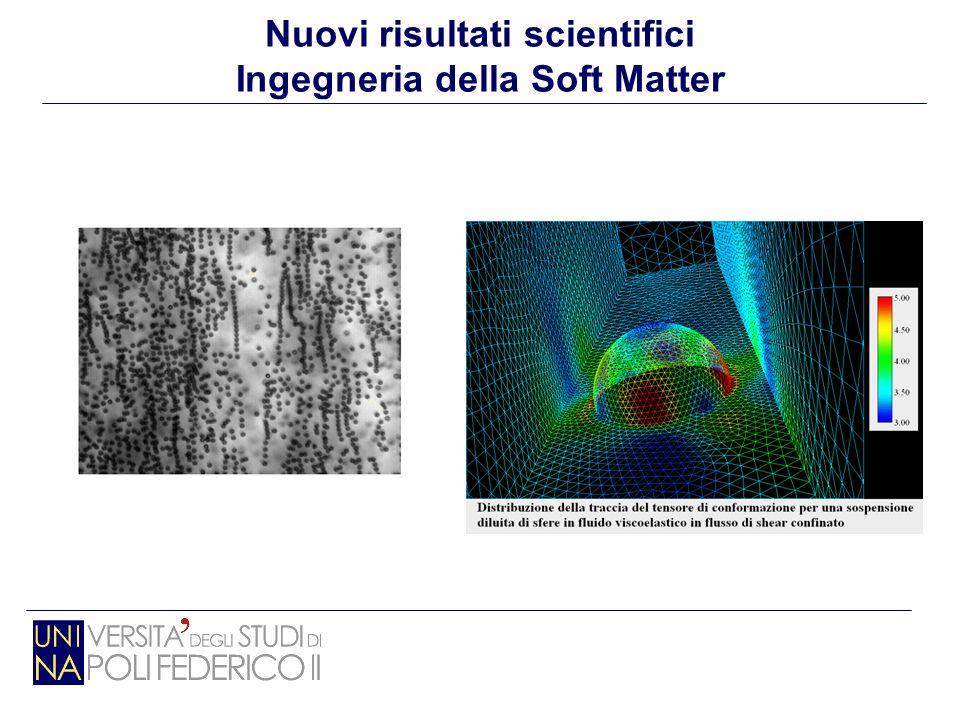 Nuovi risultati scientifici Ingegneria della Soft Matter