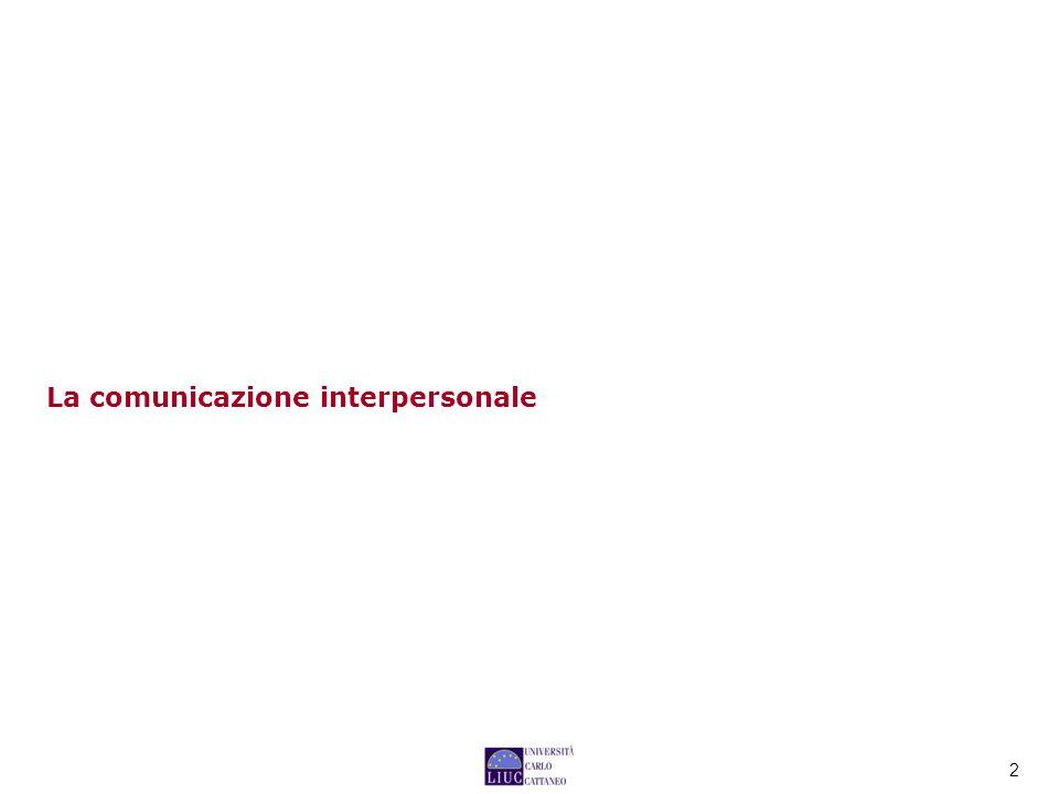 2 La comunicazione interpersonale