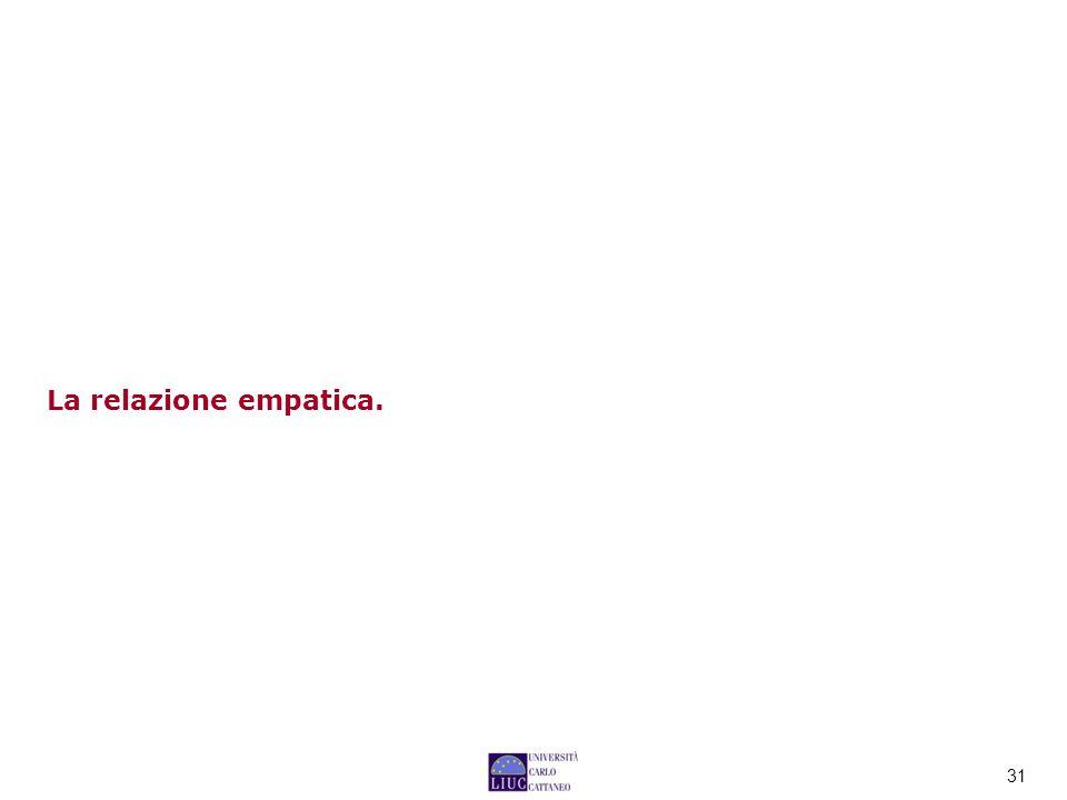31 La relazione empatica.