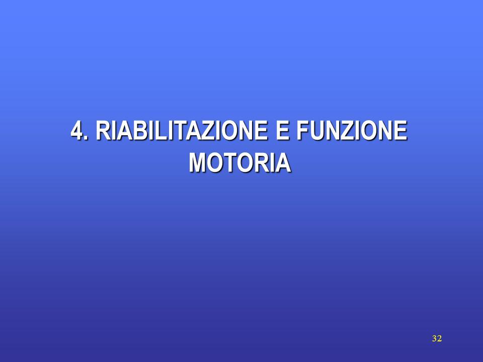 32 4. RIABILITAZIONE E FUNZIONE MOTORIA