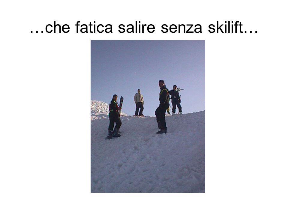 …che fatica salire senza skilift…