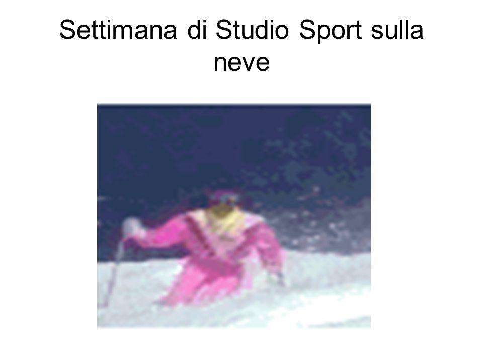 Settimana di Studio Sport sulla neve