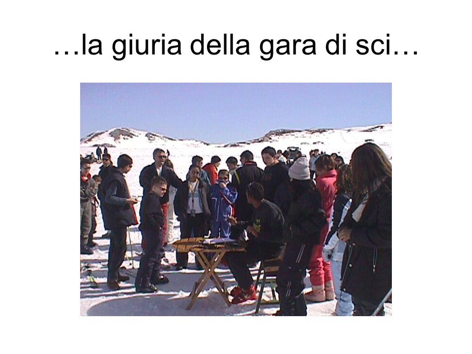 …la giuria della gara di sci…