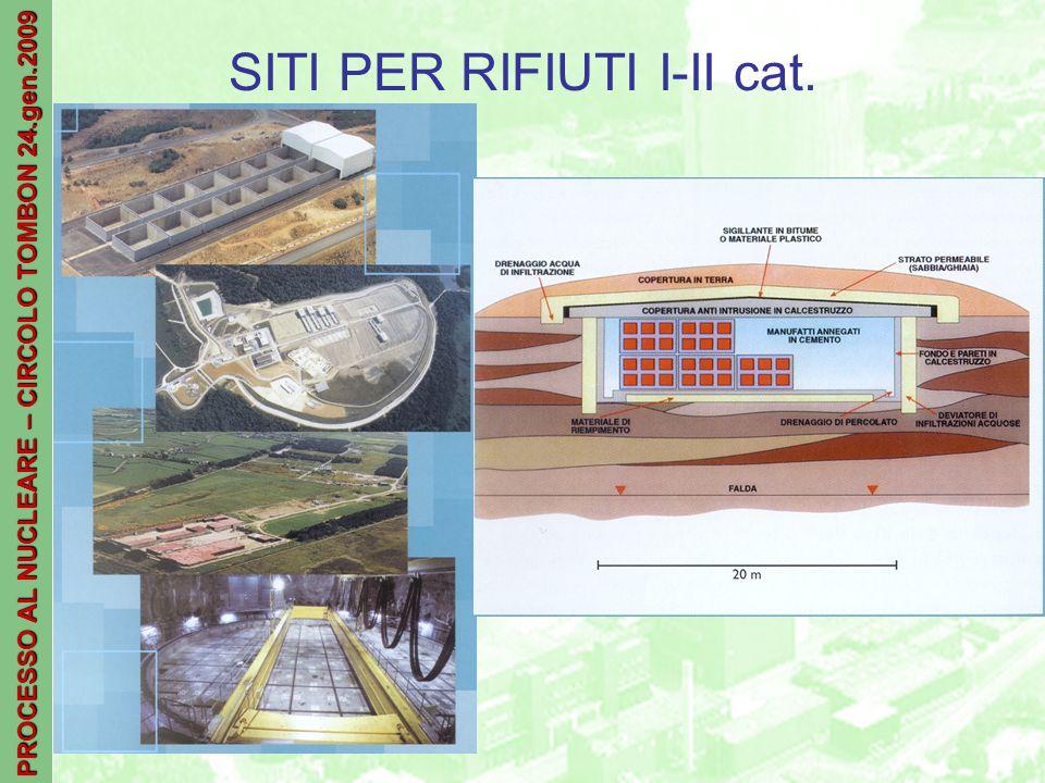 PROCESSO AL NUCLEARE – CIRCOLO TOMBON 24.gen.2009 SITI PER RIFIUTI I-II cat.