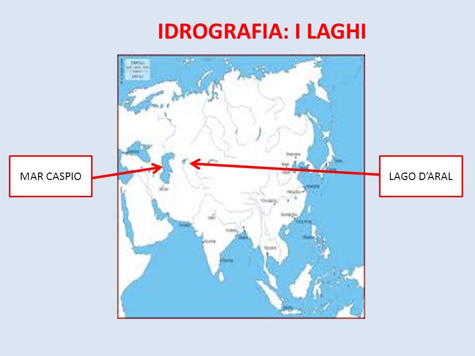 IDROGRAFIA: I LAGHI MAR CASPIOLAGO D'ARAL