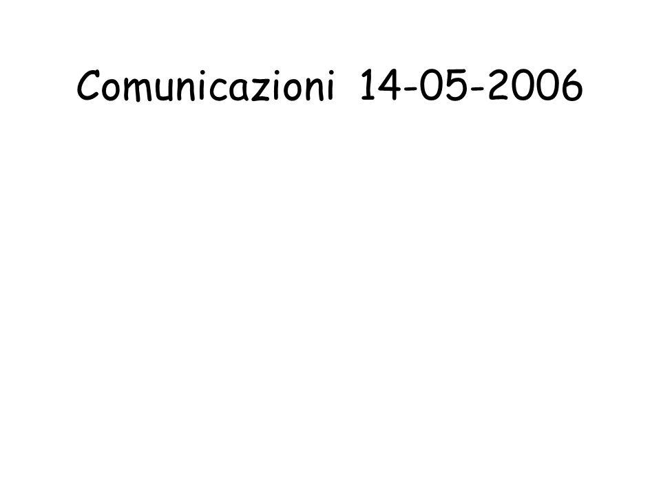 Comunicazioni 14-05-2006