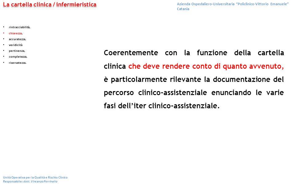 """Azienda Ospedaliero-Universitaria """"Policlinico-Vittorio Emanuele"""" Catania Unità Operativa per la Qualità e Rischio Clinico Responsabile: dott. Vincenz"""