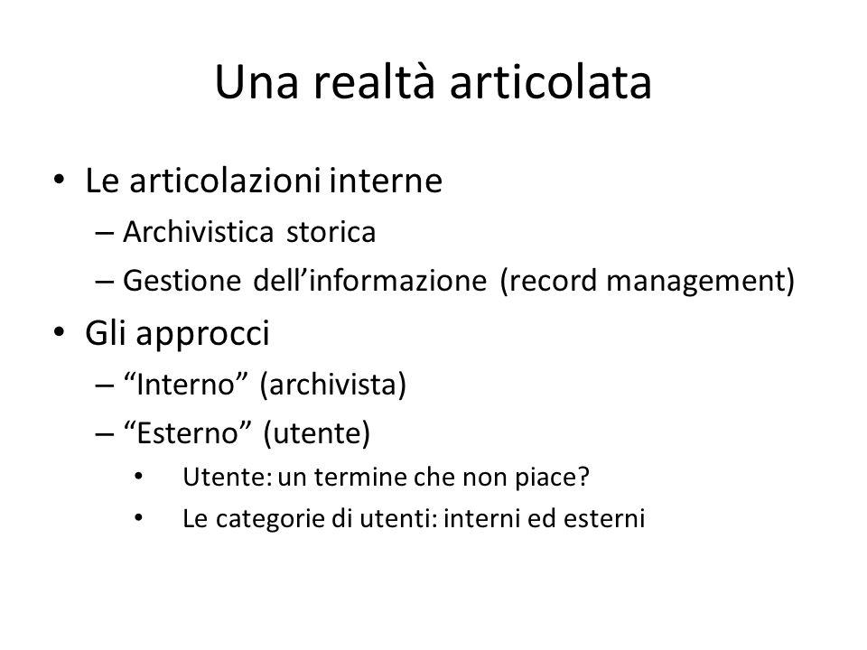 L'archivistica: definizioni