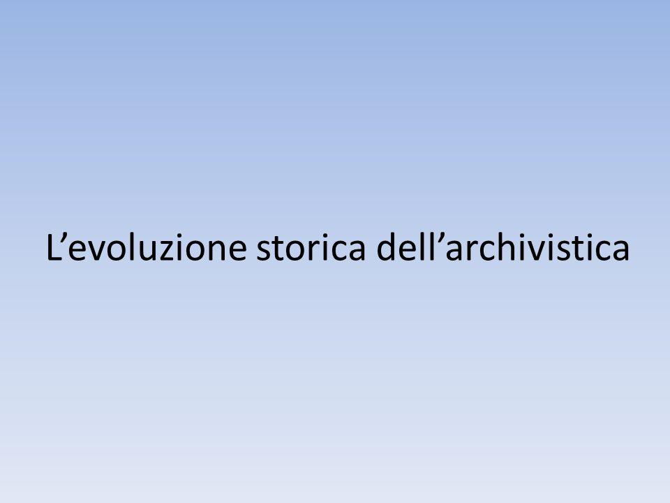 Conseguenze della definizione Nel documento e nell'archivio convivono due aspetti, uno giuridico/ amministrativo ed uno culturale.