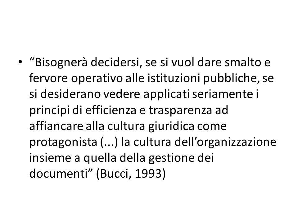 Il rinnovamento della Pubblica Amministrazione e il suo impatto sui processi di gestione dei documenti La razionalizzazione dei sistemi di produzione documentaria come prima garanzia dell'efficienza e della trasparenza amministrativa
