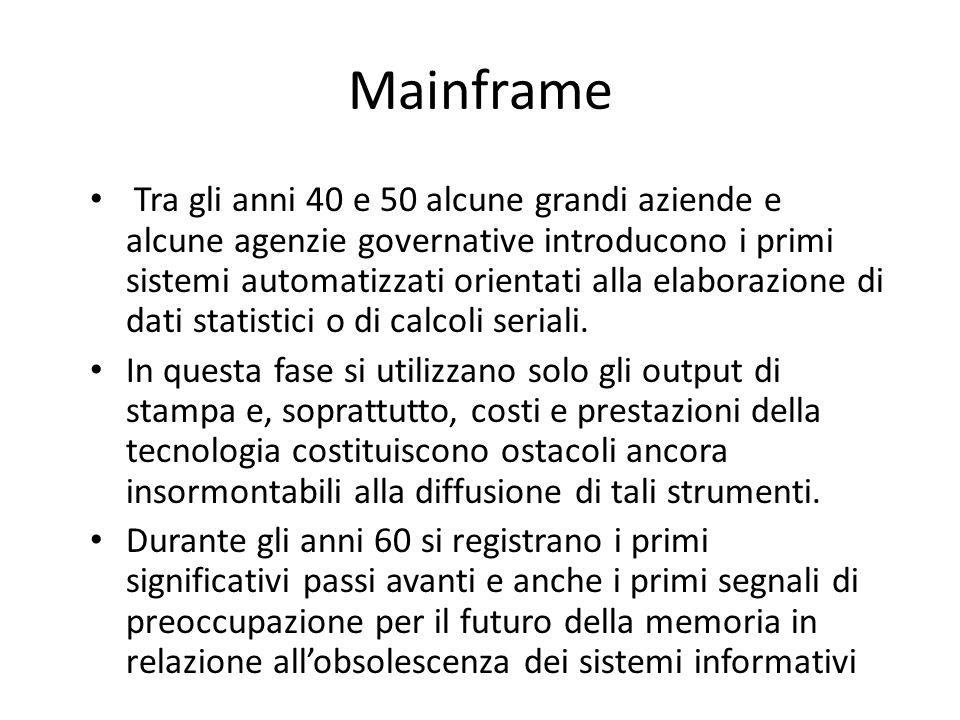 L'evoluzione dei sistemi di comunicazione Le fasi della diffusione dell'informatica nei meccanismi di produzione e conservazione dei documenti