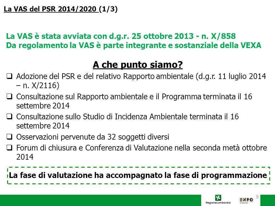 9 La VAS è stata avviata con d.g.r. 25 ottobre 2013 - n.