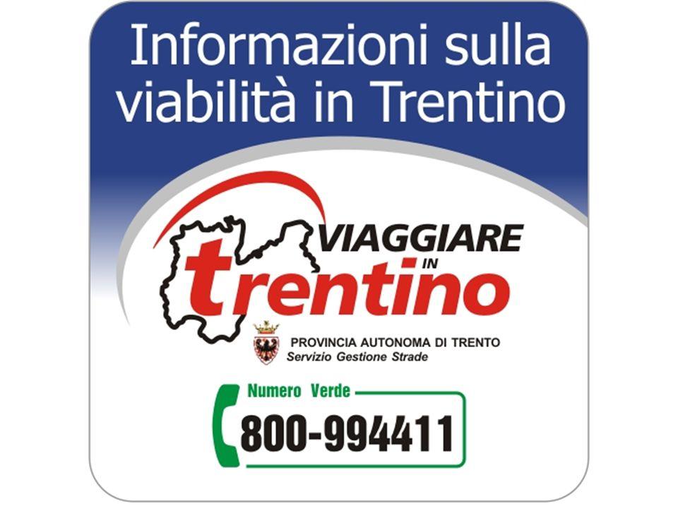 Cosa è Viaggiare in Trentino Servizio della Provincia autonoma di Trento che si occupa della raccolta e della successiva diffusione delle informazioni sulle turbative alla circolazione stradale che comportano congestioni o rallentamenti del traffico.