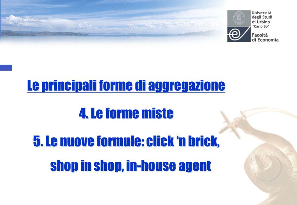 Le principali forme di aggregazione 4. Le forme miste 5.