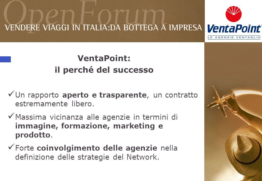 VentaPoint: il perché del successo Un rapporto aperto e trasparente, un contratto estremamente libero.